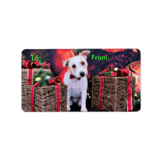 Christmas - Jack Russell - Wiley Address Label