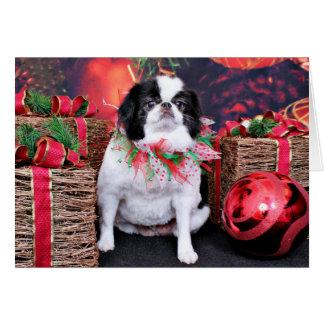 Christmas - Japanese Chin - Oreo Card