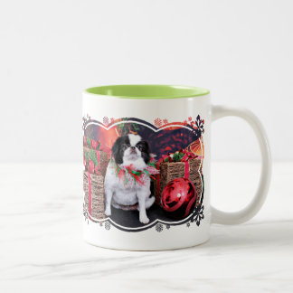 Christmas - Japanese Chin - Oreo Coffee Mug