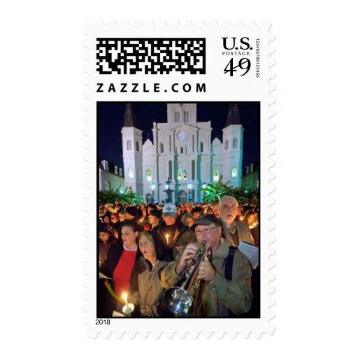 christmas Jazz in New orleans Postage Stamps