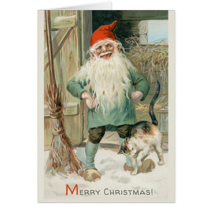 Christmas Jenny Nyström Helpful tomte CC1193 Card