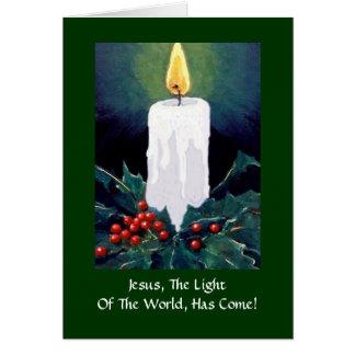 CHRISTMAS: JESUS, LIGHT, CANDLE: ART CARD