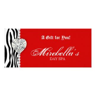 Christmas Jewelry Gift Certificate Zebra Red