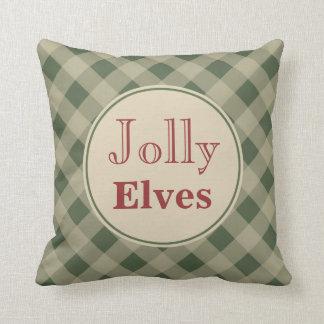 Christmas Jolly Elves Pillow