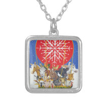 Christmas Journey Silver Plated Necklace