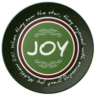 Christmas Joy Bible Verse Porcelain Plate