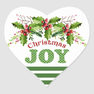 Christmas Joy Boughs of Holly Holiday Stickers