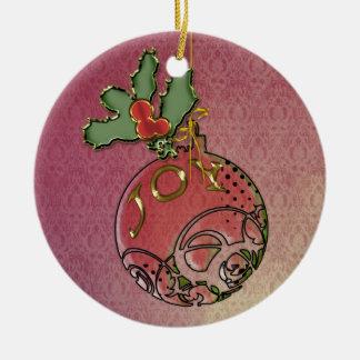 Christmas Joy Ceramic Ornament