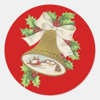 Christmas Joy Classic Round Sticker
