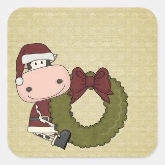 Christmas Joy - Cow Square Sticker
