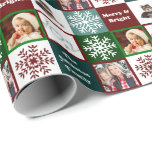 Christmas Joy Family Photos Winter Elegance Wrapping Paper