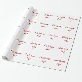 Christmas Joy Holiday Red Font Wrapping Paper