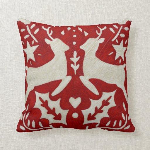 Joy Christmas Throw Pillows : Christmas Joy I Throw Pillows Zazzle
