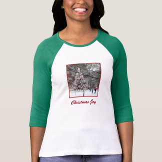'Christmas Joy' Ladies' 3/4 Sleeve Raglan T-shirt