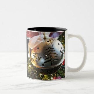Christmas Joy Ornamet Two-Tone Coffee Mug