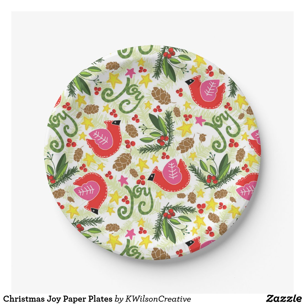 Christmas Joy Paper Plates