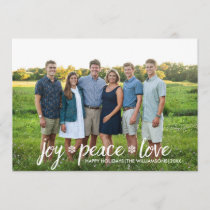 Christmas Joy Peace Love Snowflake Holiday Photo