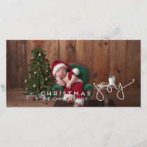 Christmas Joy Photo Card | Hand Lettered