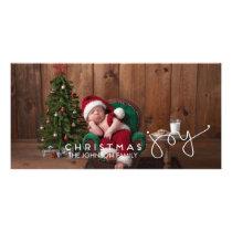 Christmas Joy Photo Card   Hand Lettered