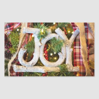 Christmas Joy Rustic Stickers