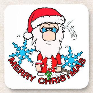 Christmas joy santa coaster