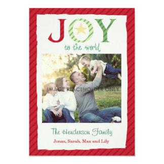 "Christmas Joy to the World 5"" X 7"" Invitation Card"