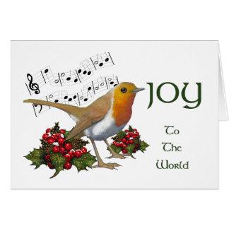 Christmas: Joy To The World: English Robin: Art Card