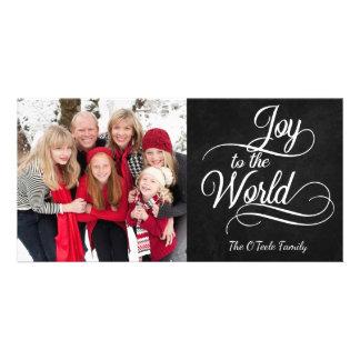 Christmas Joy to the World Family Photo Holiday Card