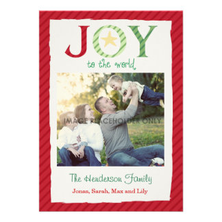 Christmas Joy to the World Invitations