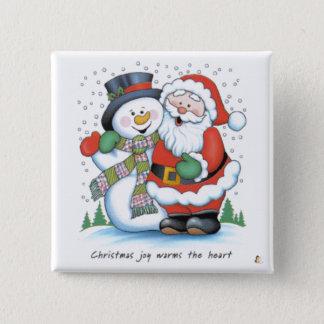 Christmas Joy Warms The Heart Pinback Button