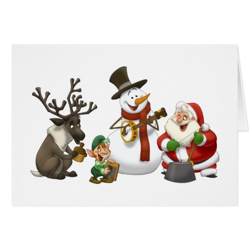 Christmas Jug Band Note Card