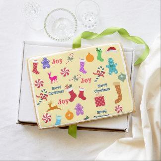 Christmas Jumbo Sugar Cookies-Holiday Gift Jumbo Shortbread Cookie
