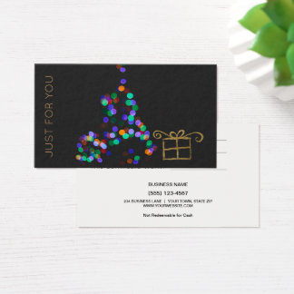 Christmas Just for You Gift Card Certificate