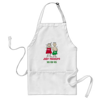 Christmas Just Married Adult Apron