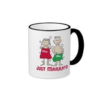 Christmas Just Married Ringer Coffee Mug