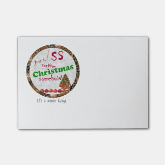 Christmas Just Survive Satire Post-it Notes