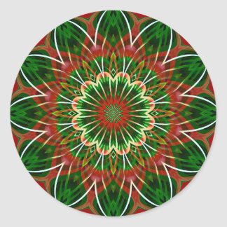 Christmas kaleidoscope classic round sticker