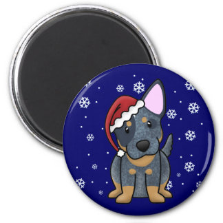 Christmas Kawaii Blue Heeler Magnet