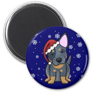 Christmas Kawaii Blue Heeler Refrigerator Magnets