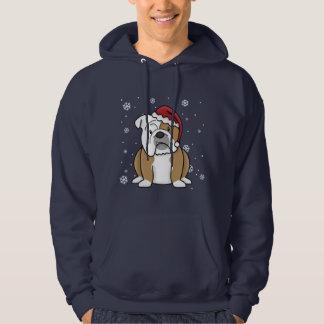 Christmas Kawaii English Bulldog Hoodie