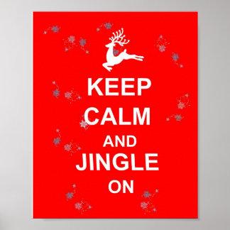 Christmas Keep Calm and Jingle On Poster Decor