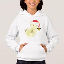 Christmas Kermode Bear - Santa Hat & Jingle Bell Hoodie