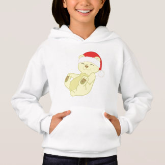 Christmas Kermode Bear with Red Santa Hat Hoodie