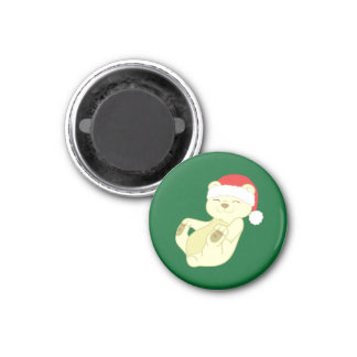 Christmas Kermode Bear with Red Santa Hat Magnet