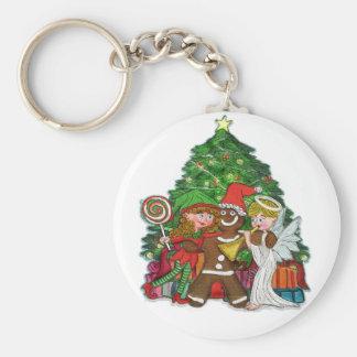 Christmas key chains - Gingerbread man & friends