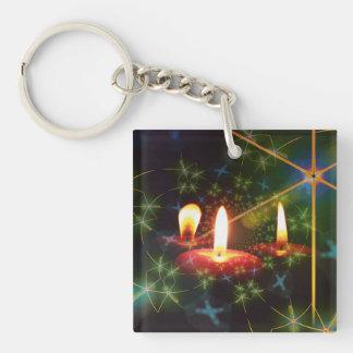 Christmas Square Acrylic Keychain