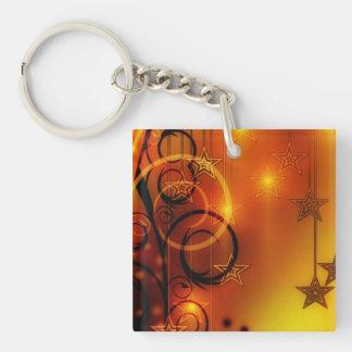 Christmas Square Acrylic Key Chain