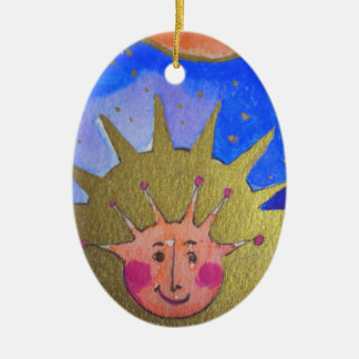 Christmas Kid Oval Ornament