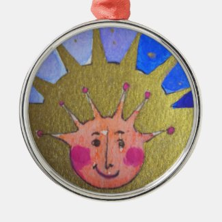 Christmas Kid Premium Round Ornament