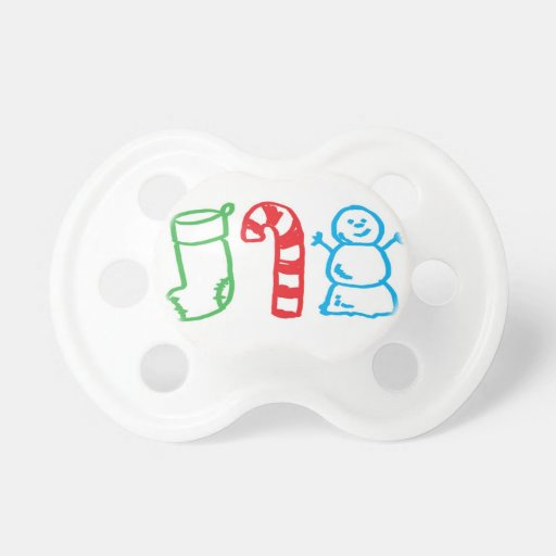 Christmas kids drawing baby pacifier